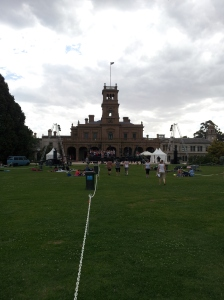 At sound check for the Wyndham Carols by Candlelight at Werribee Park, 2012.