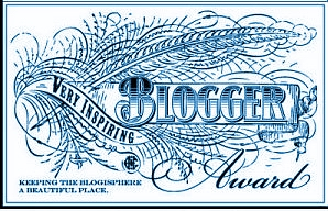Thank you, Michelle for my Very Inspiring Blogger Award!