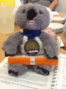 Credit to our mascot (aptly named Daphne), a hysterical laughing koala, who kept our spirits up throughout the week.