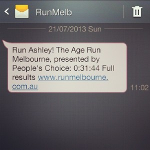 Huzzah for Run Melbourne!
