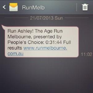Huzzah for Run Melbourne!