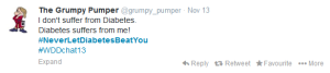 Never let diabetes beat you. Thanks @grumpy_pumper.