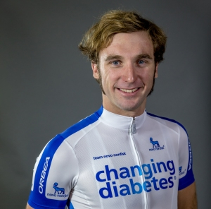 Justin Morris - Living with type 1 diabetes for 17 years, Team Novo Nordisk rider for 5 years to date. Photo courtesy of ©BrakeThrough Media