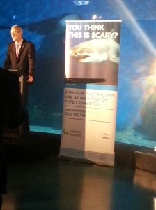 Professor Greg Johnson, CEO of Diabetes Australia launching the new campaign.