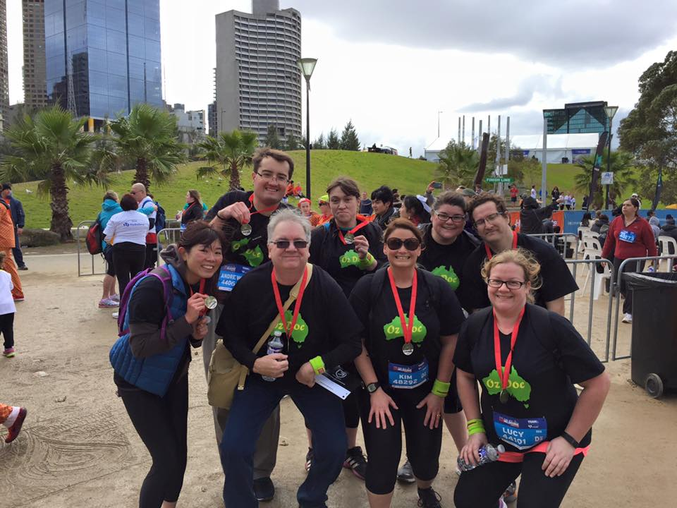 Over the weekend, some OzDOC members gathered in Melbourne to participate in the Run Melbourne 5km run/walk. I love and appreciate any opportunity to meet my DOC friends in real life. It's always nice to put faces to twitter names and I hope to meet many of you one day!